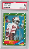 1986 Topps Football #161 Jerry Rice Rookie PSA 7 (NM) *5627