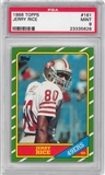 1986 Topps Football #161 Jerry Rice Rookie PSA 9 (MINT) *5626