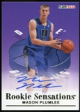 2013/14 Upper Deck Fleer Retro '92-93 Fleer Rookie Sensations Autographs #RS1 Mason Plumlee C Autograph