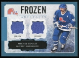2013-14 Upper Deck Artifacts Frozen Artifacts Jerseys Blue #FAGO Michel Goulet B