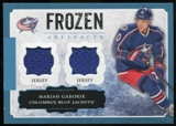 2013-14 Upper Deck Artifacts Frozen Artifacts Jerseys Blue #FAMG Marian Gaborik B