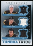 2013-14 Upper Deck Artifacts Tundra Trios Jerseys Blue #T3CBP Zdeno Chara/Ray Bourque/Brad Park C