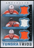 2013-14 Upper Deck Artifacts Tundra Trios Jerseys Blue #T3HSS Scott Hartnell/Luke Schenn/Brayden Schenn C
