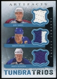 2013-14 Upper Deck Artifacts Tundra Trios Jerseys Blue #T3SHS Joe Sakic/Brett Hull/Mats Sundin C
