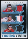 2013-14 Upper Deck Artifacts Tundra Trios Jerseys Blue #T3TMB Joe Thornton/Brenden Morrow/Patrice Bergeron C