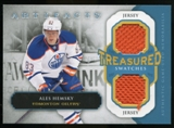 2013-14 Upper Deck Artifacts Treasured Swatches Jerseys Blue #TSAH Ales Hemsky B