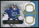 2013-14 Upper Deck Artifacts Treasured Swatches Jerseys Blue #TSRL Roberto Luongo C