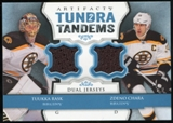 2013-14 Upper Deck Artifacts Tundra Tandems Jerseys Blue #TTCR Tuukka Rask/Zdeno Chara B