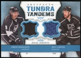 2013-14 Upper Deck Artifacts Tundra Tandems Jerseys Blue #TTJD Jeff Carter/Drew Doughty B