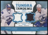 2013-14 Upper Deck Artifacts Tundra Tandems Jerseys Blue #TTLK Roberto Luongo/Ryan Kesler B