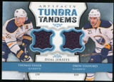 2013-14 Upper Deck Artifacts Tundra Tandems Jerseys Blue #TTVS Thomas Vanek/Drew Stafford C