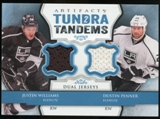 2013-14 Upper Deck Artifacts Tundra Tandems Jerseys Blue #TTWP Justin Williams/Dustin Penner C