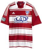 FC Dallas Adidas ClimaCool Red & White Replica Jersey (Adult S)
