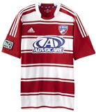 FC Dallas Adidas ClimaCool Red & White Replica Jersey (Adult M)