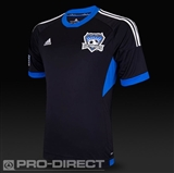 San Jose Earthquakes Adidas ClimaCool Black Replica Jersey (Adult M)