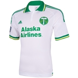 Portland Timbers Adidas ClimaCool White Replica Jersey (Adult L)