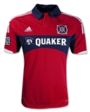 Chicago Fire Adidas ClimaCool Red Replica Jersey (Adult S)