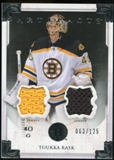 2013-14 Upper Deck Artifacts Jerseys #125 Tuukka Rask G /125