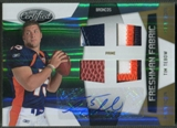 2010 Certified #304 Tim Tebow Mirror Gold Rookie Ball Shoe Patch Auto #01/25