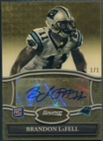 2010 Bowman Sterling #BSABL Brandon LaFell Rookie Superfractor Auto #1/1