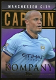 2014/15 Topps English Premier League Gold Captains Purple #CSVK Vincent Kompany /50