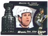 2008/09 Upper Deck Black Diamond Run for the Cup #CUP39 Martin St. Louis /100