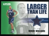 2008/09 Upper Deck SkyBox Larger Than Life Retail #LLDW Deron Williams