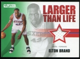 2008/09 Upper Deck SkyBox Larger Than Life Retail #LLEB Elton Brand
