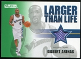 2008/09 Upper Deck SkyBox Larger Than Life Retail #LLGA Gilbert Arenas