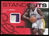 2008/09 Upper Deck SkyBox Standouts Patches #SOAB Andrew Bynum /25