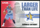 2008/09 Upper Deck SkyBox Larger Than Life Patches #LLCA Carmelo Anthony /25