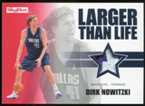 2008/09 Upper Deck SkyBox Larger Than Life Patches #LLDN Dirk Nowitzki /25