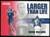 2008/09 Upper Deck SkyBox Larger Than Life Patches #LLDW Deron Williams /25