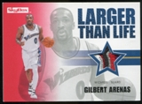 2008/09 Upper Deck SkyBox Larger Than Life Patches #LLGA Gilbert Arenas /25