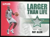2008/09 Upper Deck SkyBox Larger Than Life Patches #LLRA Ray Allen /25