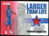 2008/09 Upper Deck SkyBox Larger Than Life Patches #LLRH Richard Hamilton /25