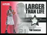 2008/09 Upper Deck SkyBox Larger Than Life Patches #LLTD Tim Duncan /25