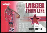 2008/09 Upper Deck SkyBox Larger Than Life Patches #LLVC Vince Carter /25