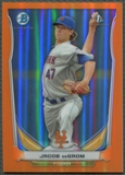 2014 Bowman Chrome Prospects #BCP73 Jacob deGrom Rookie Orange Refractor #12/25