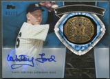 2014 Topps Update #WSGGWF Whitey Ford World Series Rings Gold Gems Auto #01/10