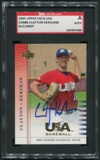 2005 USA Baseball #86 Clayton Kershaw Junior National Team Rookie Auto SGC Authentic