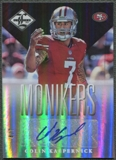 2013 Limited #83 Colin Kaepernick Monikers Silver Auto #4/7