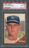 1962 Topps Baseball #340 Don Drysdale PSA 8 (NM-MT) *1769