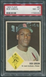 1963 Fleer Baseball #61 Bob Gibson PSA 8 (NM-MT) *2263