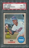1968 Topps Baseball #80 Rod Carew PSA 8 (NM-MT) *1589
