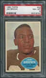 1960 Topps Football #23 Jim Brown PSA 8 (NM-MT) *8753