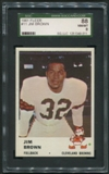 1961 Fleer Football #11 Jim Brown SGC 88 8 (NM-MT) *9011