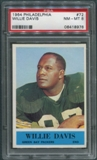 1964 Philadelphia Football #72 Willie Davis Rookie PSA 8 (NM-MT) *8976
