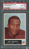 1965 Philadelphia Football #31 Jim Brown PSA 8 (NM-MT) *7914