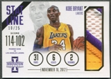 2012/13 Innovation #17 Kobe Bryant Stat Line Patch #10/25